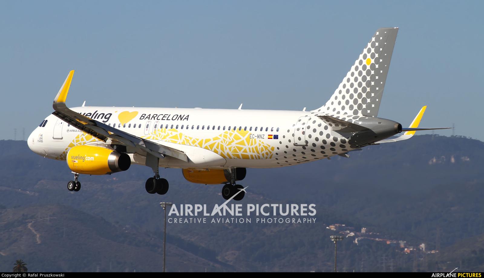 Vueling Airlines EC-MNZ aircraft at Barcelona - El Prat