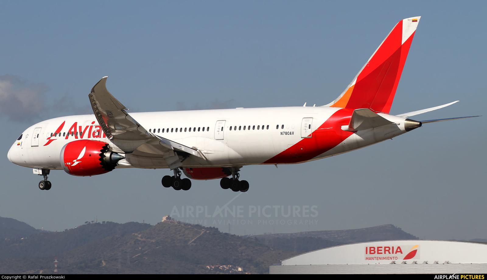 Avianca N780AV aircraft at Barcelona - El Prat