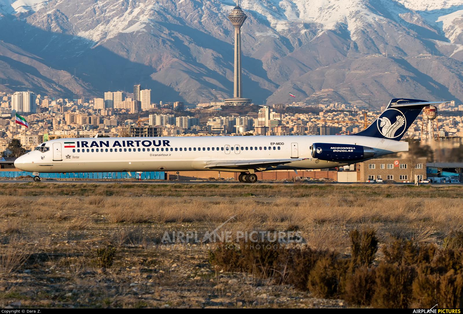 Iran Air Tours EP-MDD aircraft at Tehran - Mehrabad Intl