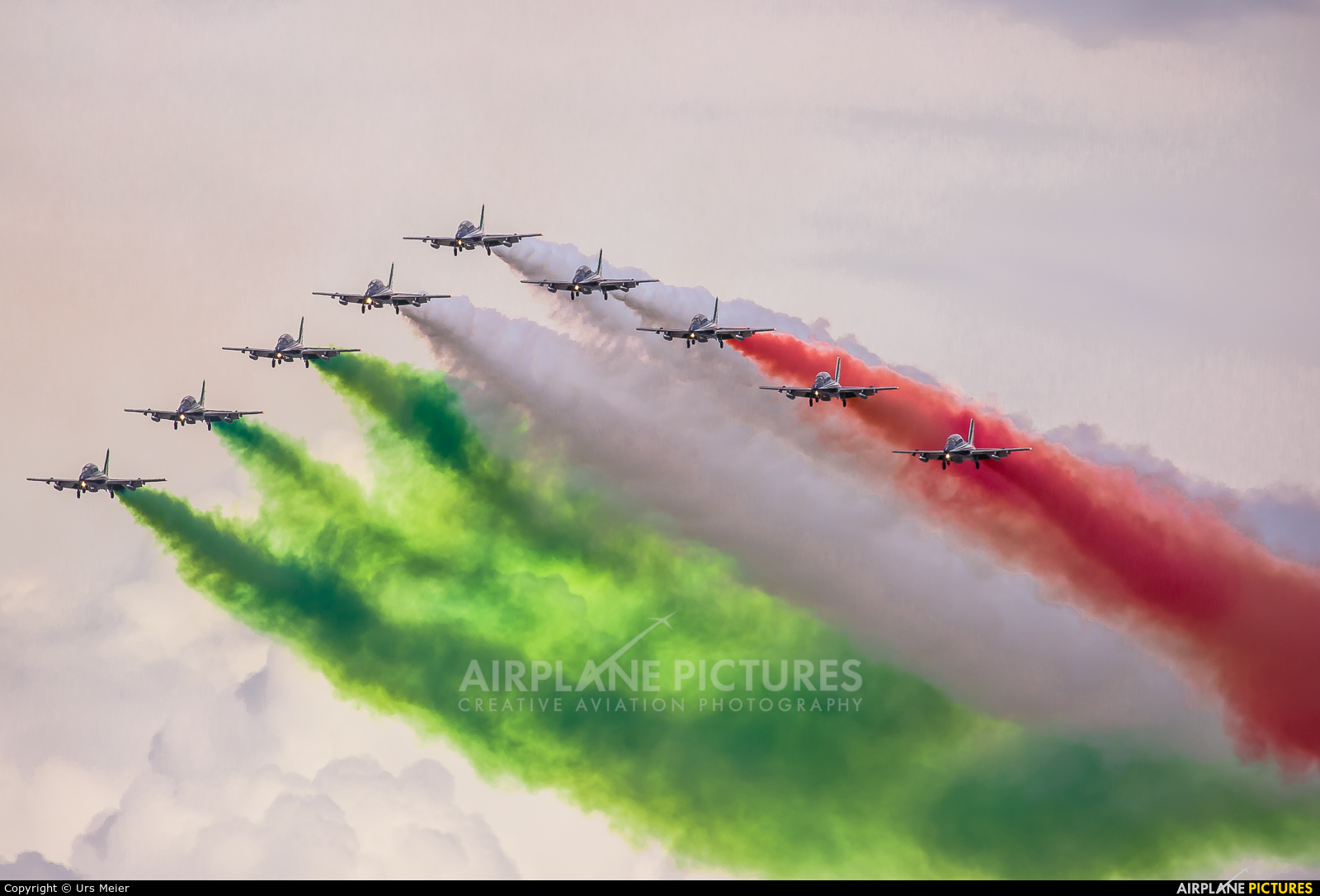 """Italy - Air Force """"Frecce Tricolori"""" MM54479 aircraft at Sion"""