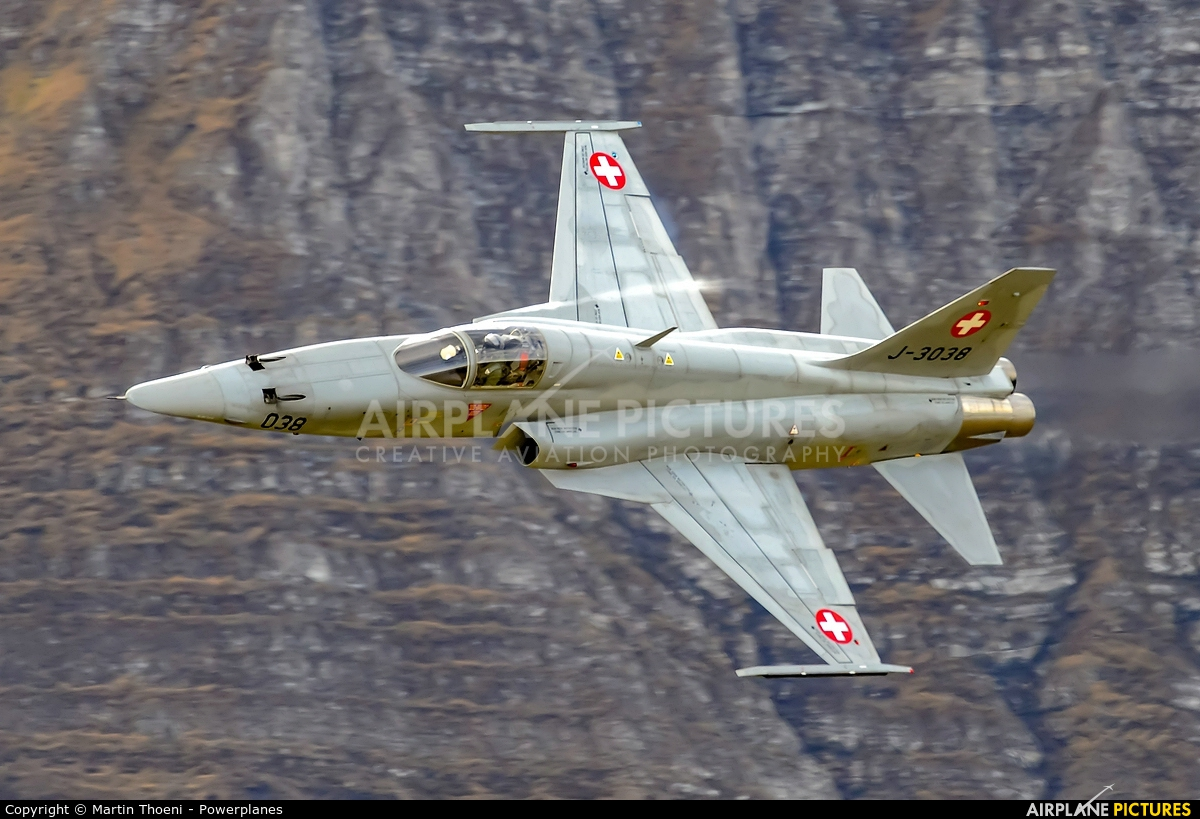 Switzerland - Air Force J-3038 aircraft at Axalp - Ebenfluh Range