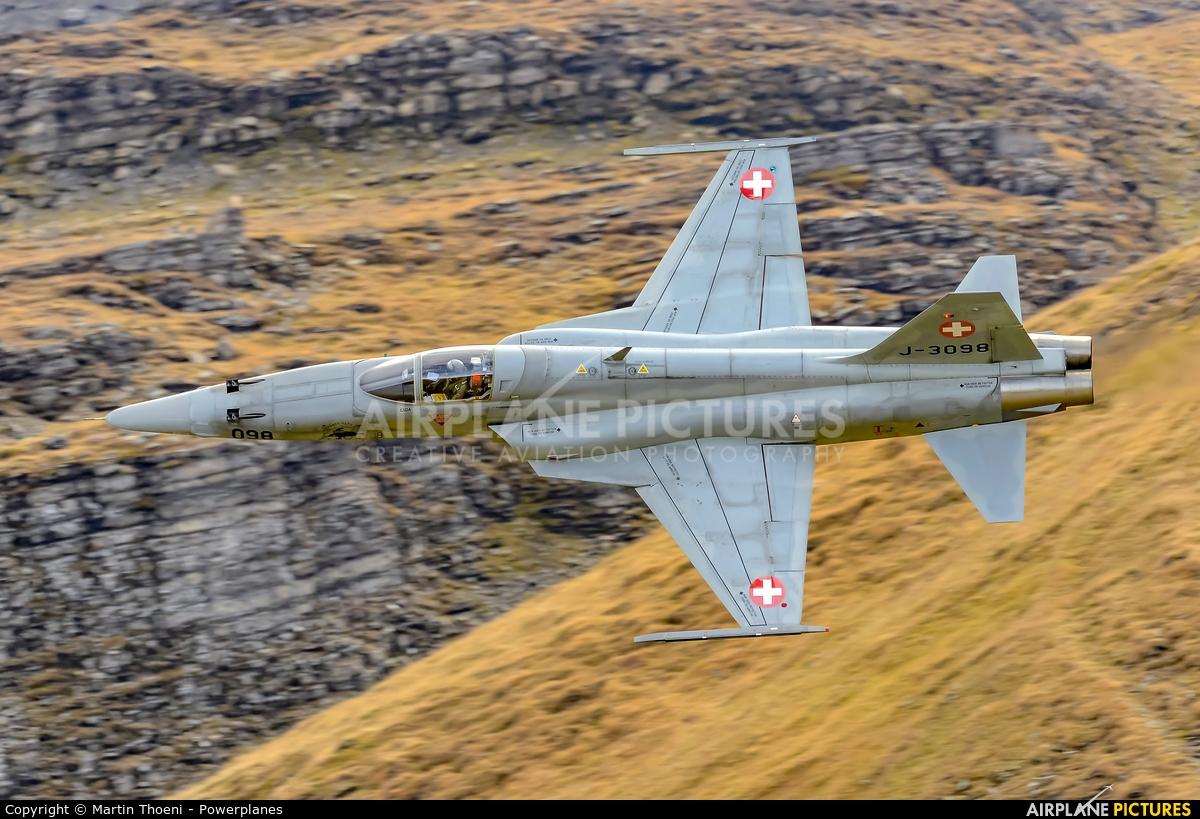 Switzerland - Air Force J-3098 aircraft at Axalp - Ebenfluh Range