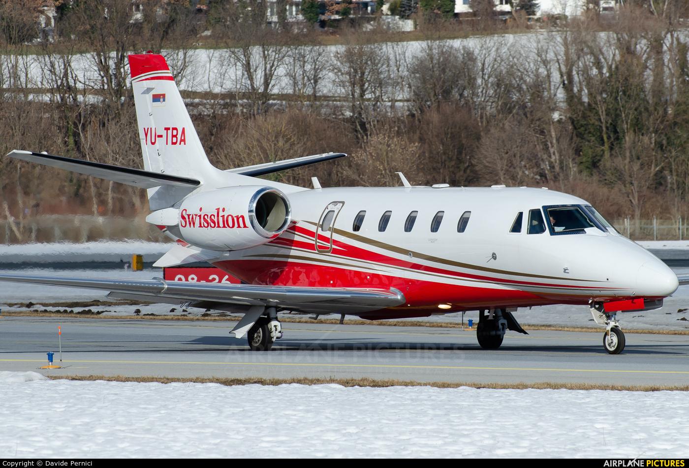 Private YU-TBA aircraft at Innsbruck