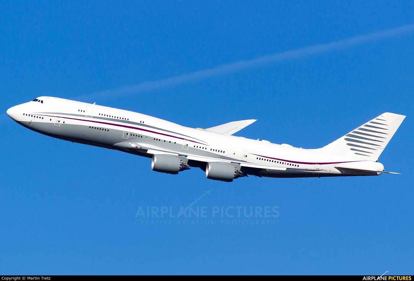 Qatar Amiri Flight A7-HBJ aircraft at Munich