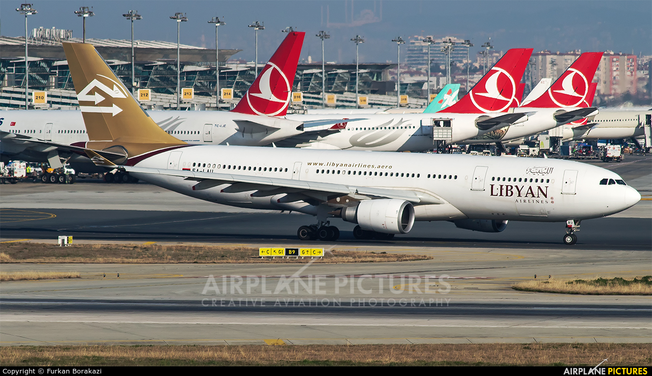 Libyan Airlines 5A-LAU aircraft at Istanbul - Ataturk