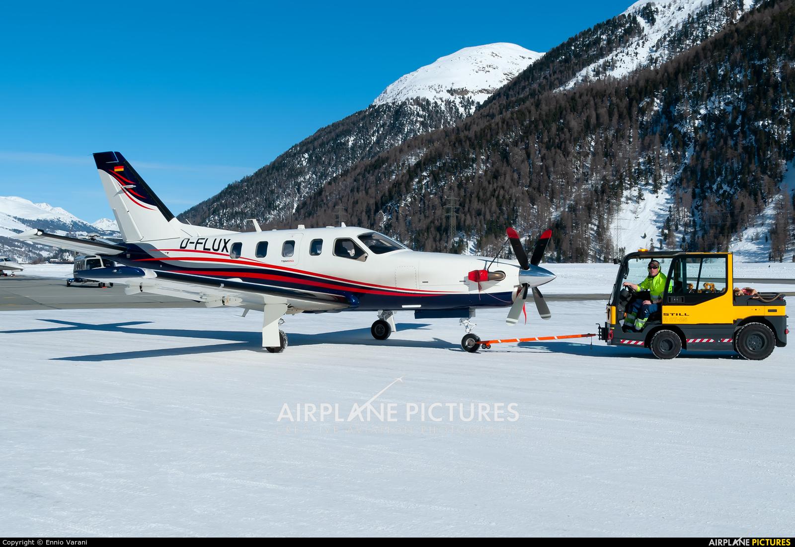 Private D-FLUX aircraft at Samedan - Engadin