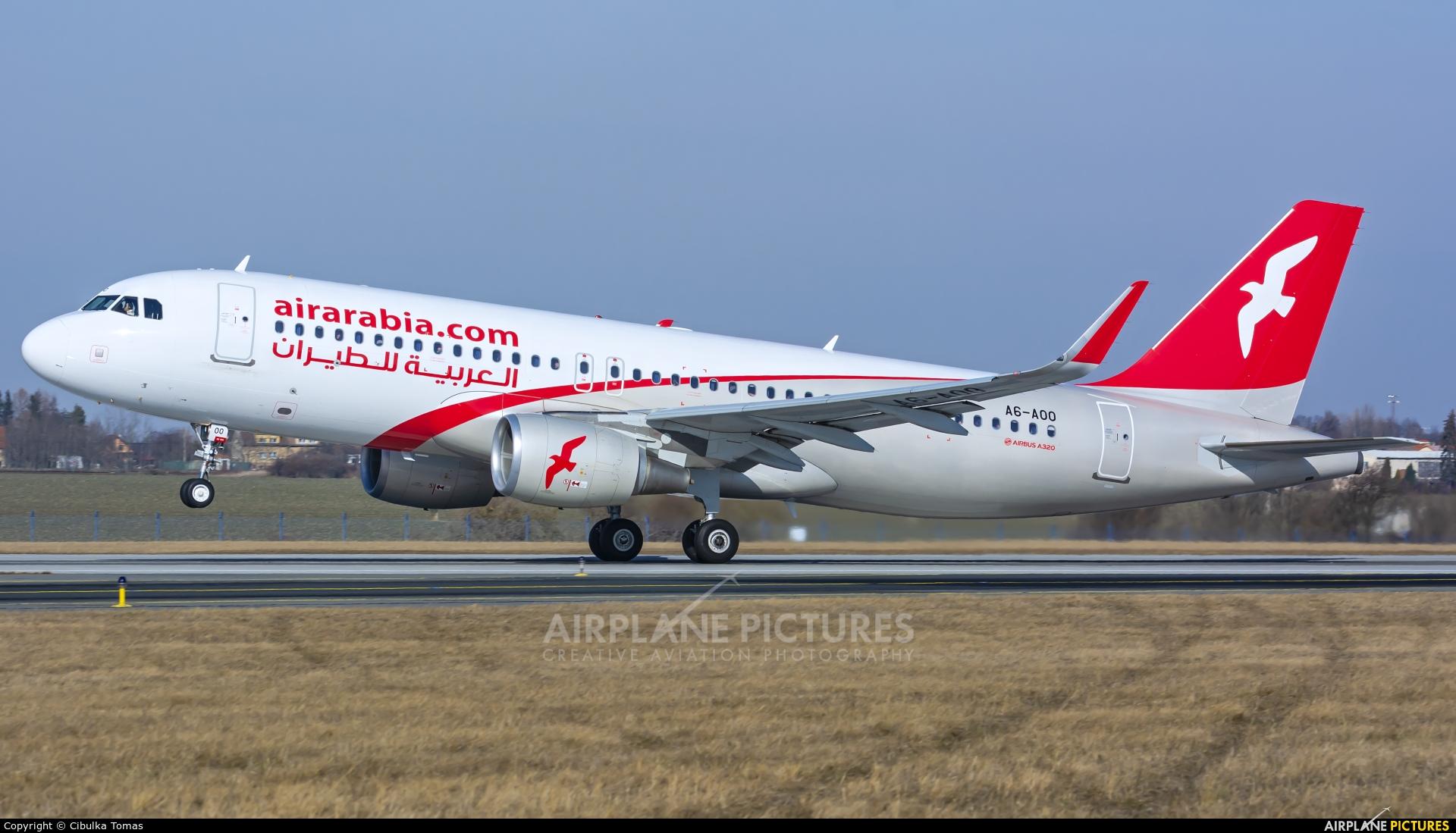 Air Arabia A6-AOO aircraft at Prague - Václav Havel