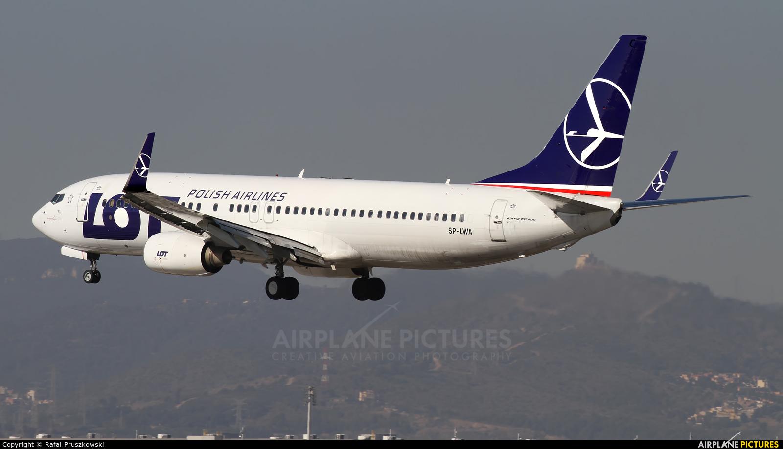 LOT - Polish Airlines SP-LWA aircraft at Barcelona - El Prat