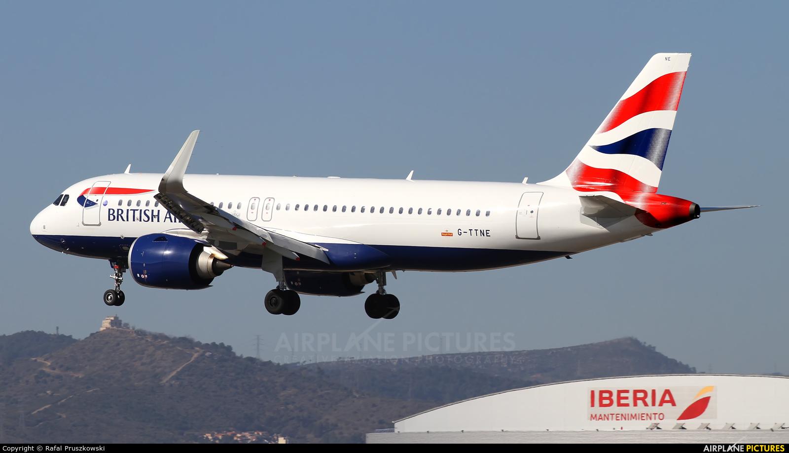 British Airways G-TTNE aircraft at Barcelona - El Prat