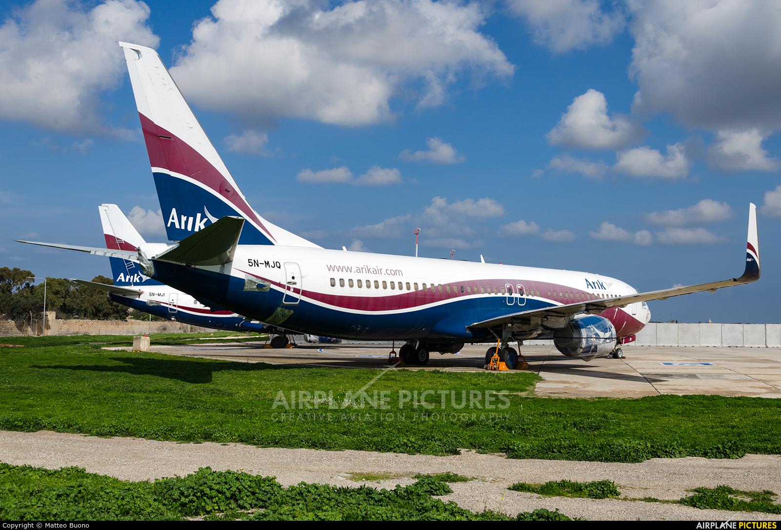 Arik Air 5N-MJQ aircraft at Malta Intl