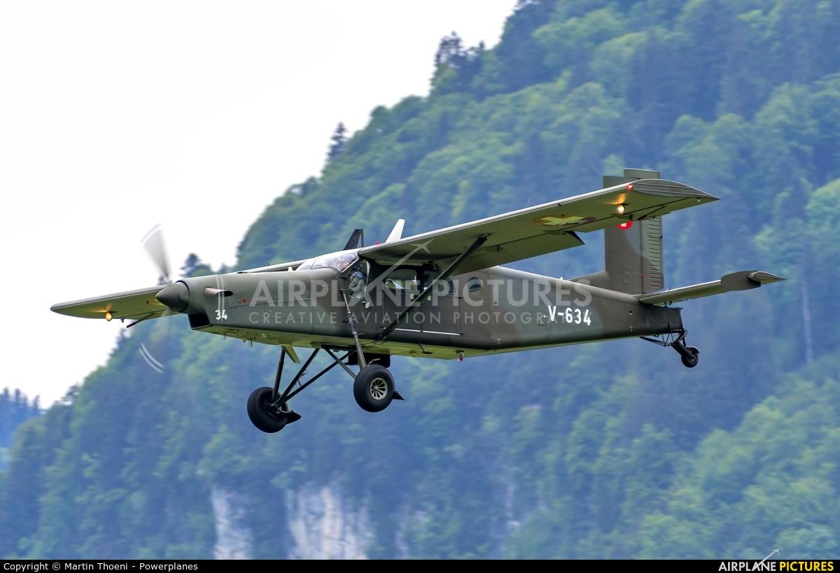 Switzerland - Air Force V-634 aircraft at Buochs