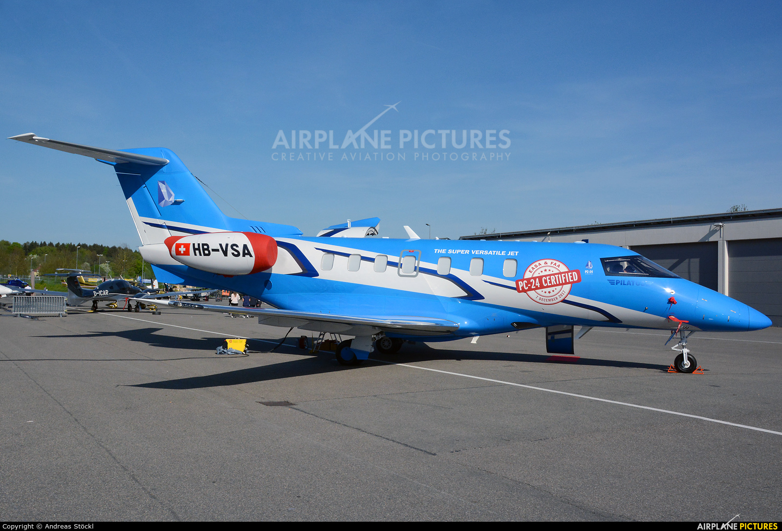 Pilatus HB-VSA aircraft at Friedrichshafen