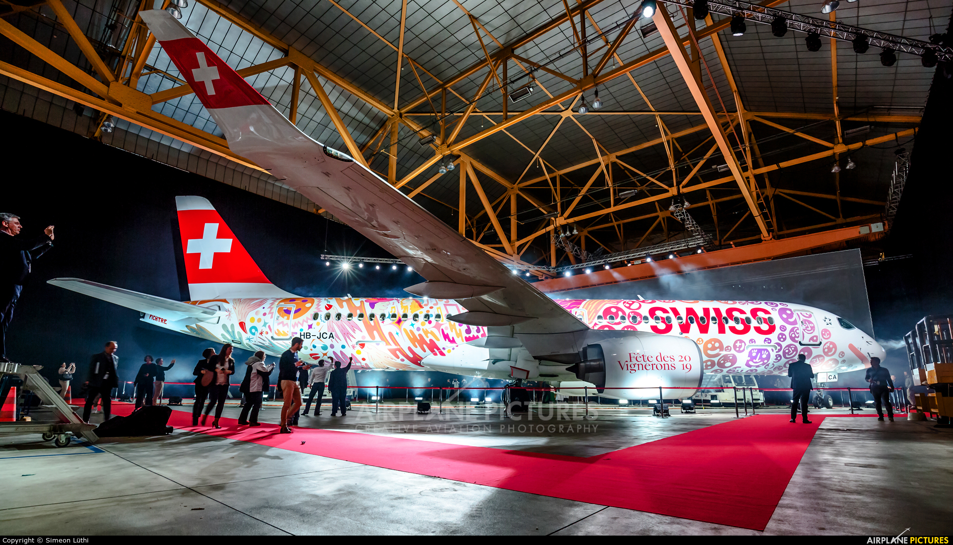 Swiss HB-JCA aircraft at Geneva Intl
