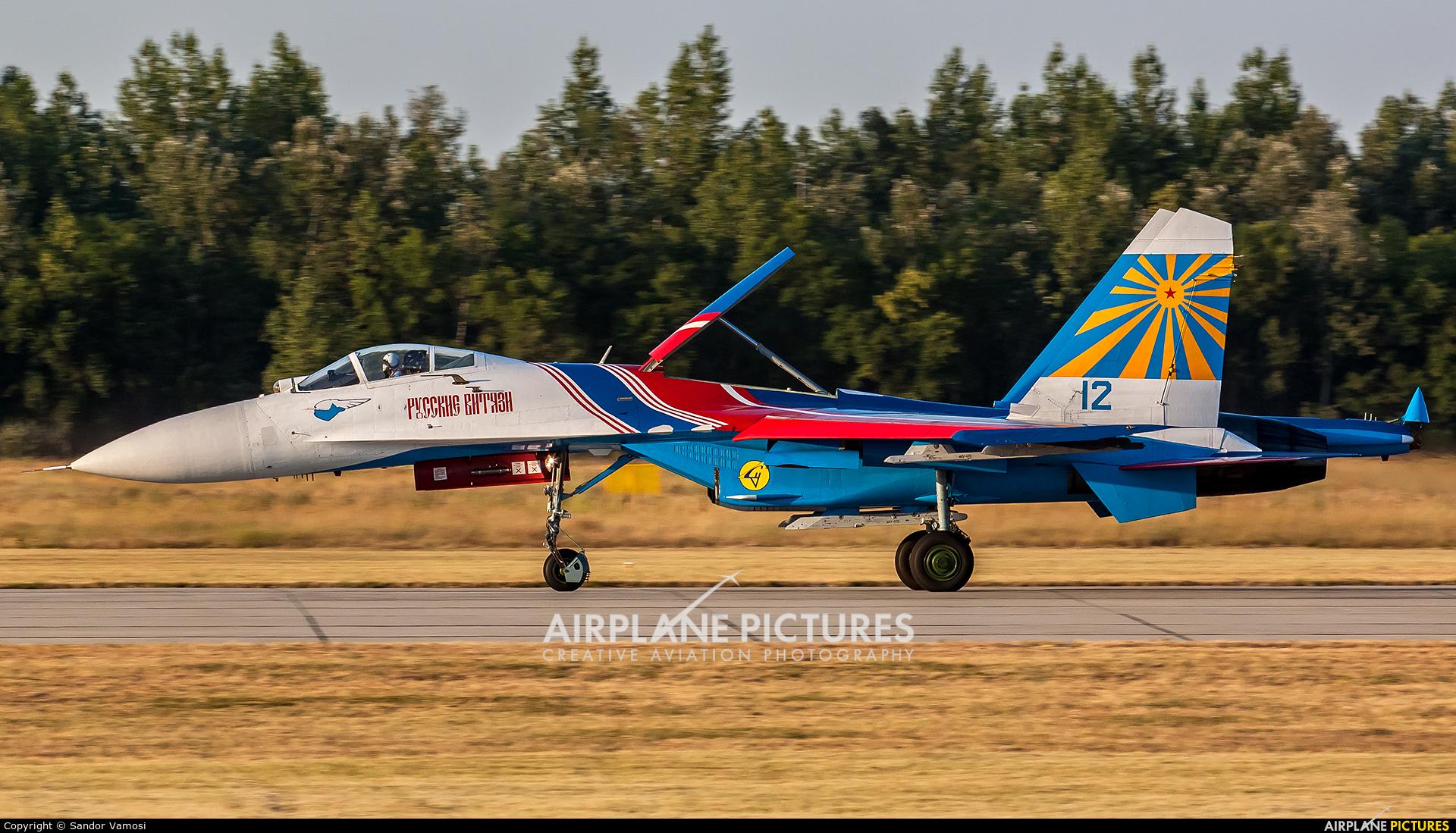 """Russia - Air Force """"Russian Knights"""" 12 aircraft at Kecskemét"""