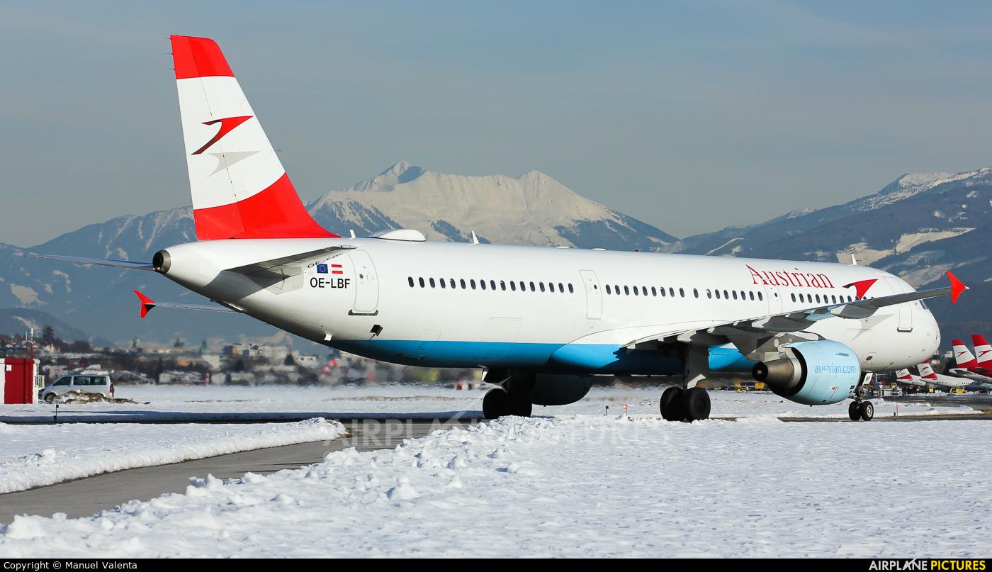 Austrian Airlines/Arrows/Tyrolean OE-LBF aircraft at Innsbruck