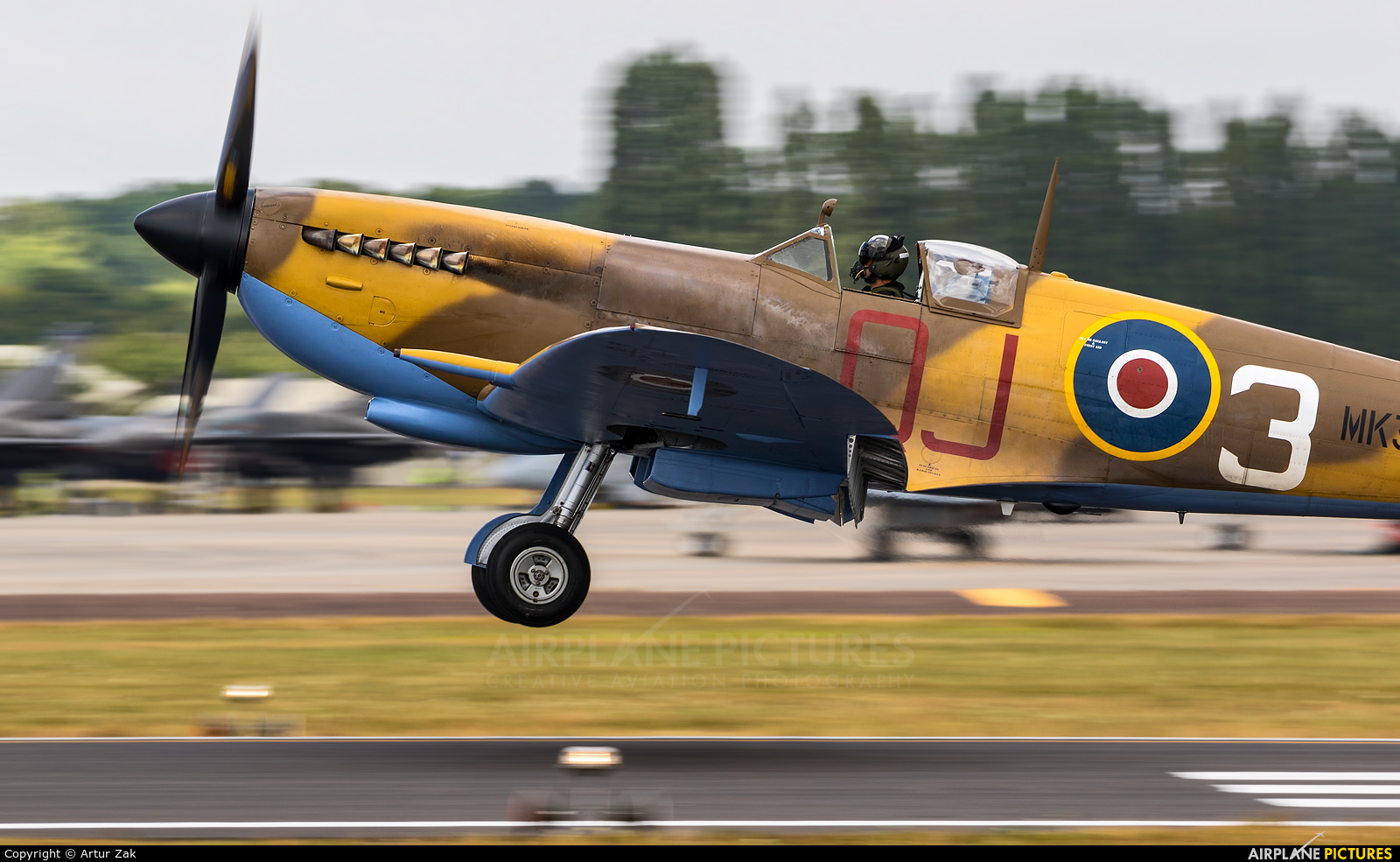 "Royal Air Force ""Battle of Britain Memorial Flight&quot MK356 aircraft at Fairford"