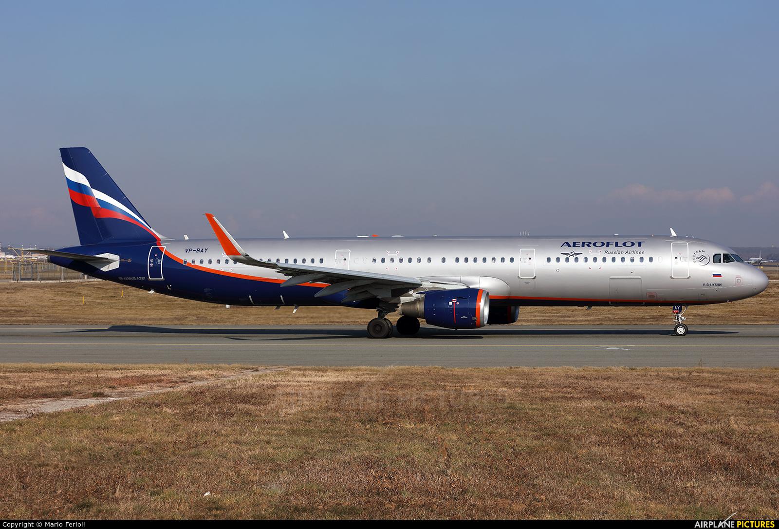 Aeroflot VP-BAY aircraft at Milan - Malpensa