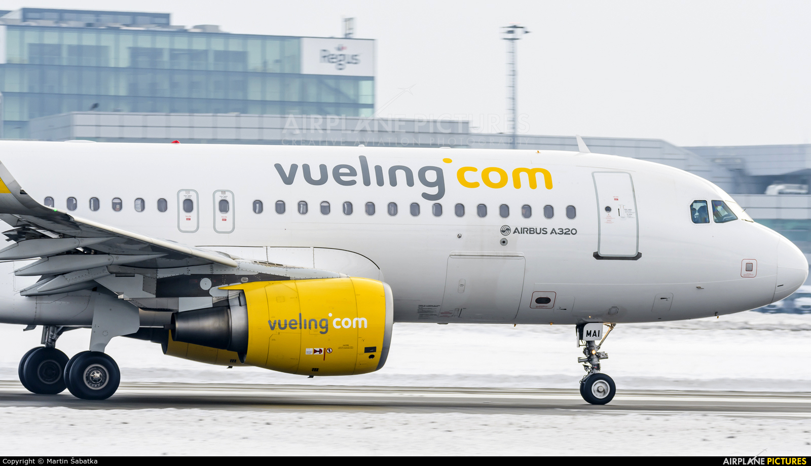 Vueling Airlines EC-MAI aircraft at Prague - Václav Havel