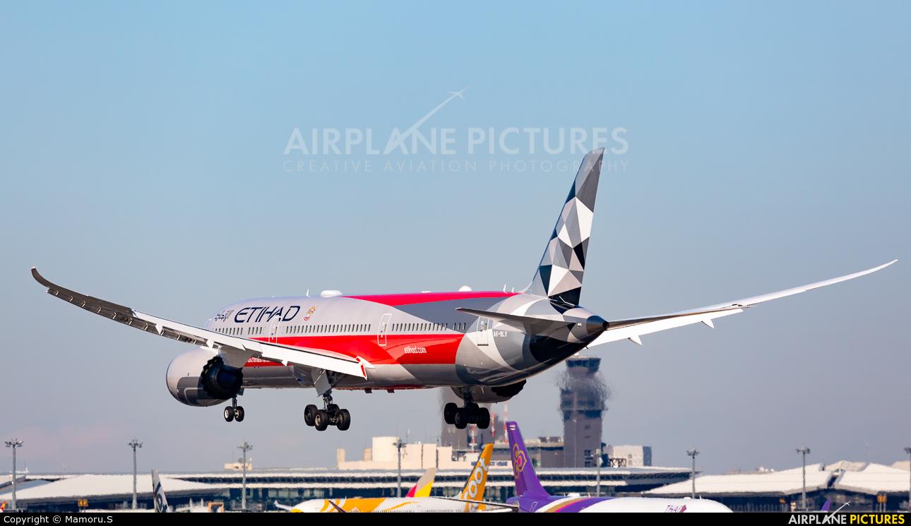 Etihad Airways A6-BLV aircraft at Tokyo - Narita Intl