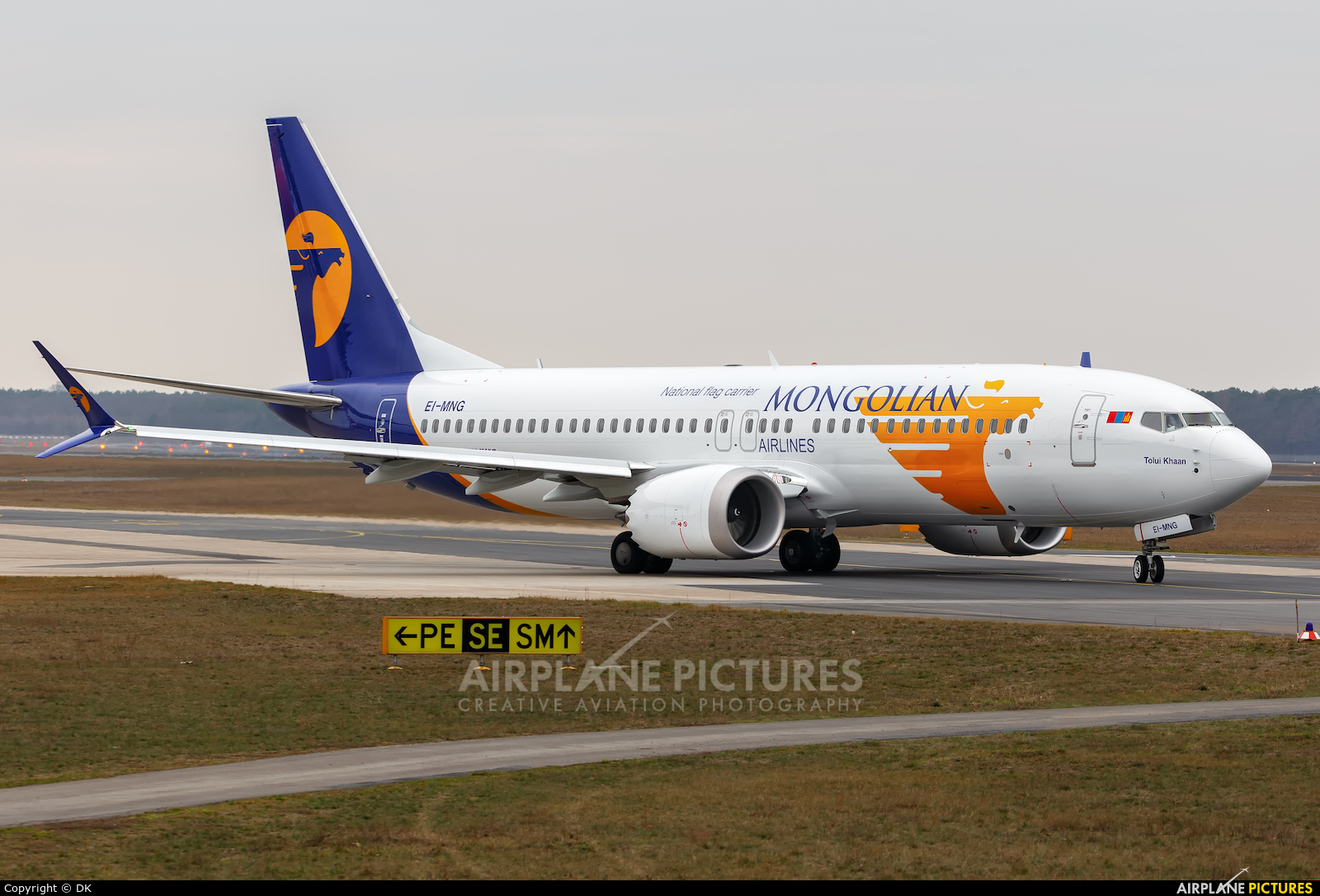 Mongolian Airlines EI-MNG aircraft at Berlin - Tegel