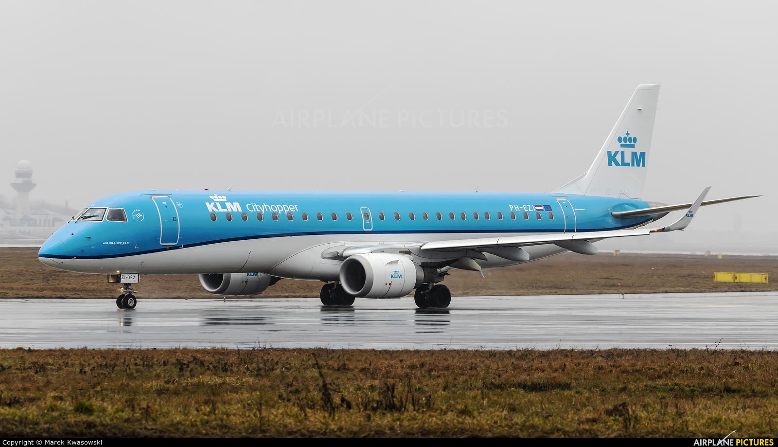 KLM PH-EZI aircraft at Warsaw - Frederic Chopin
