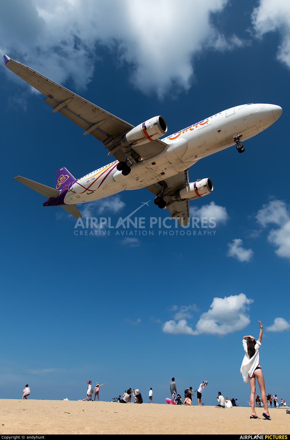 Thai Smile HS-TXN aircraft at Phuket