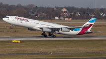 OO-SCX - Eurowings Airbus A340-300 aircraft