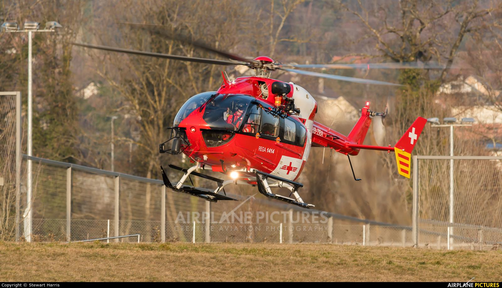 REGA Swiss Air Ambulance  HB-ZRA aircraft at Lausanne - La Blécherette