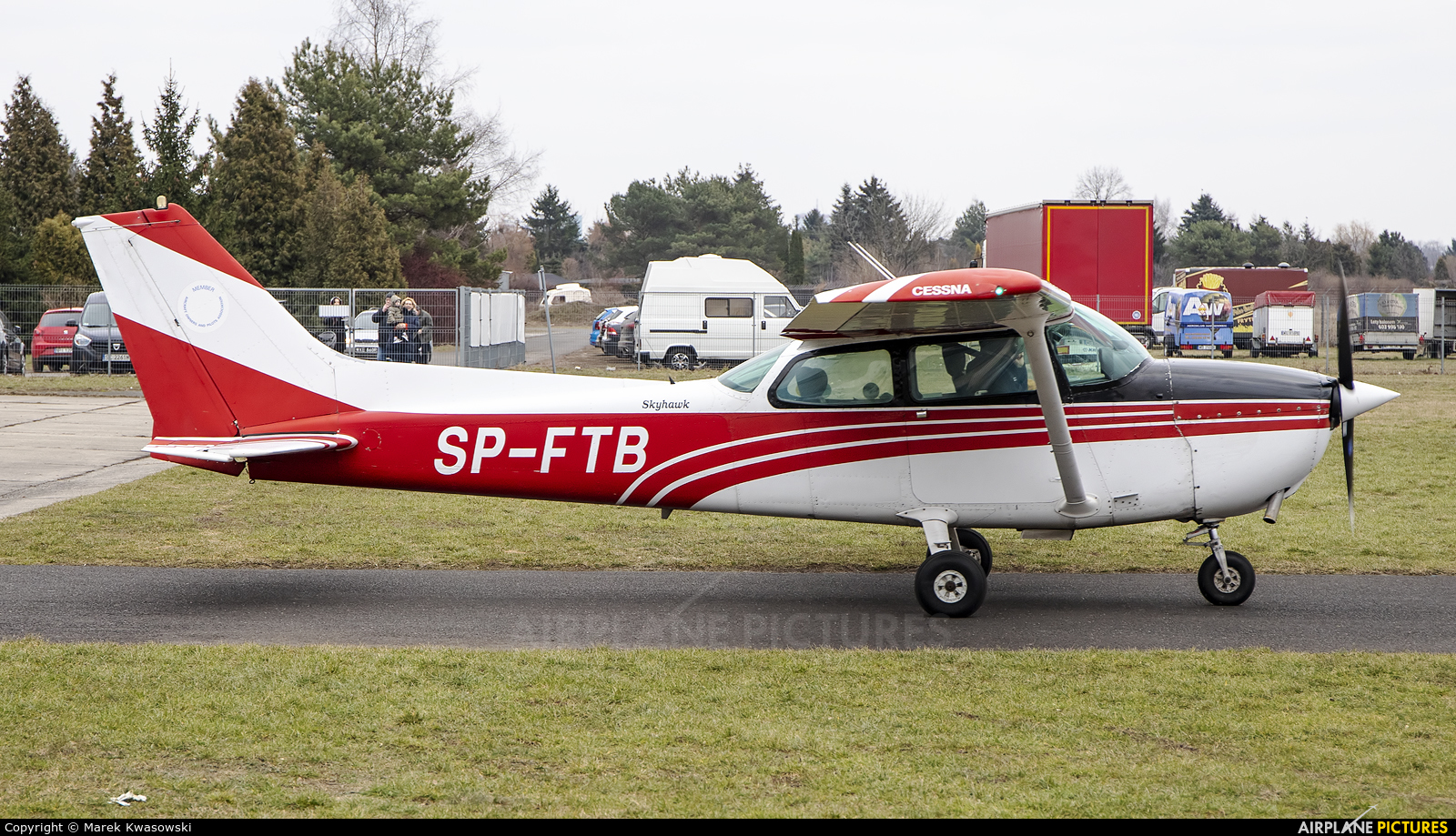 Private SP-FTB aircraft at Warsaw - Babice