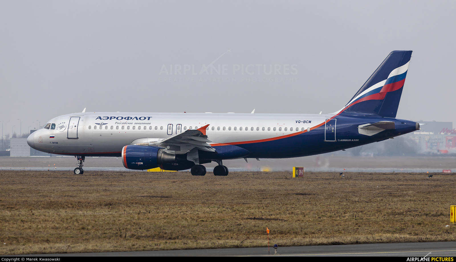 Aeroflot VQ-BCM aircraft at Warsaw - Frederic Chopin