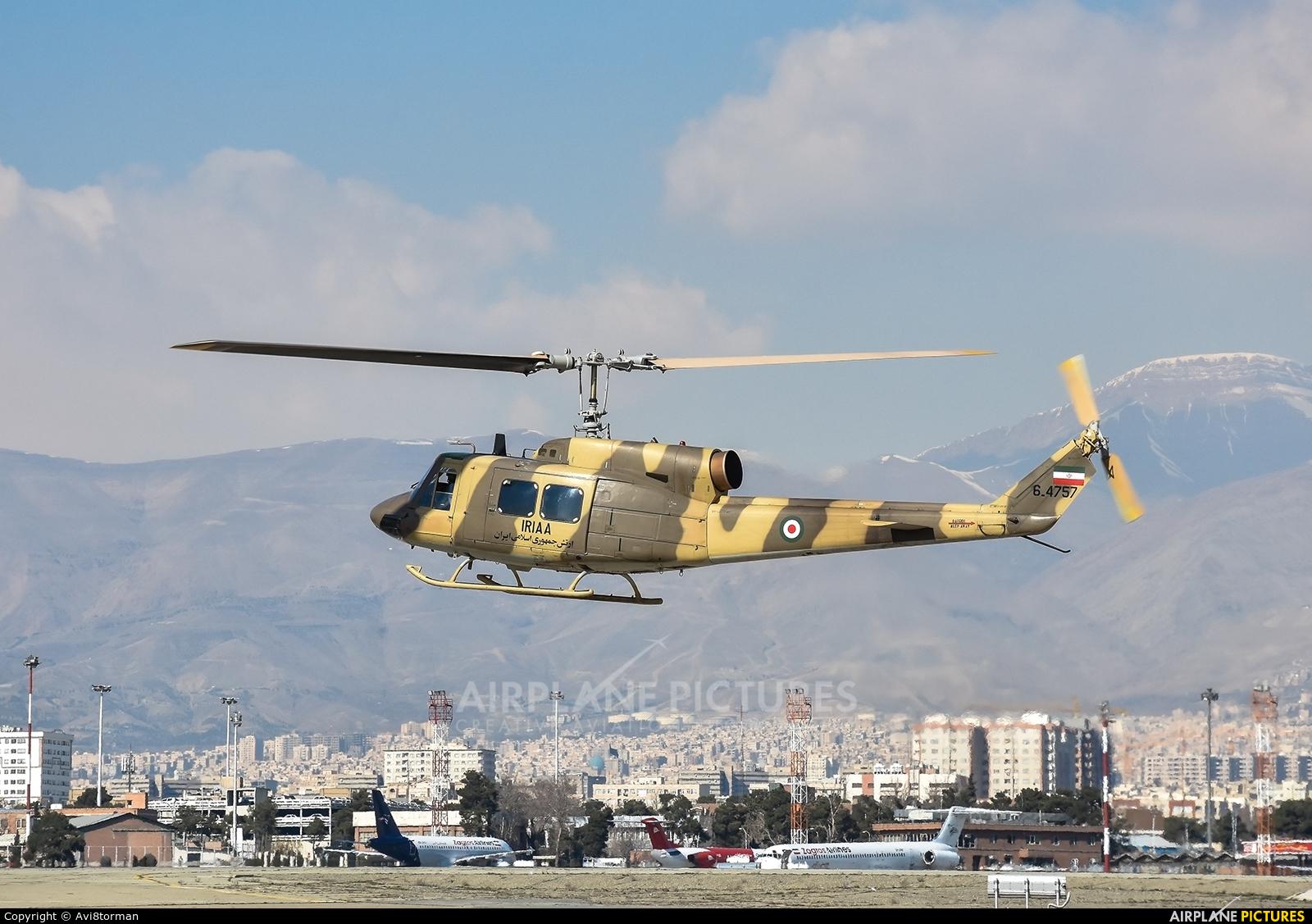 Iranian Army 6-4757 aircraft at Tehran - Mehrabad Intl