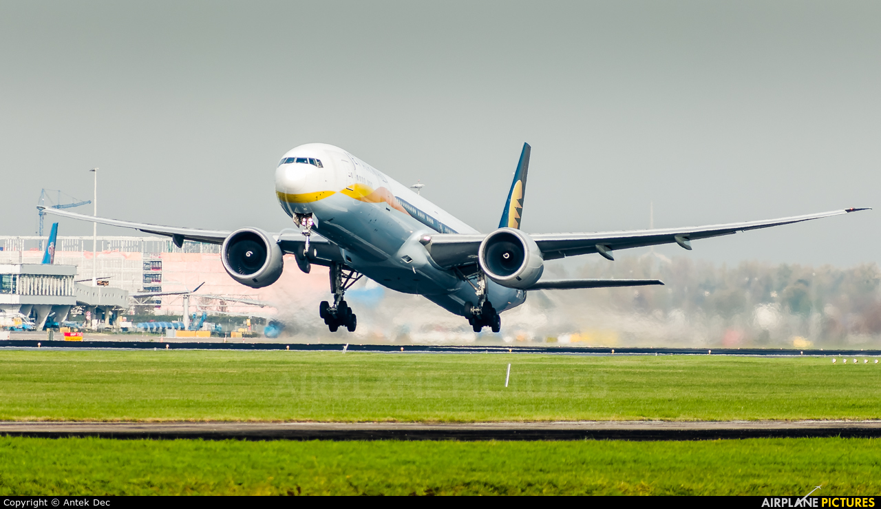 Jet Airways VT-JEQ aircraft at Amsterdam - Schiphol