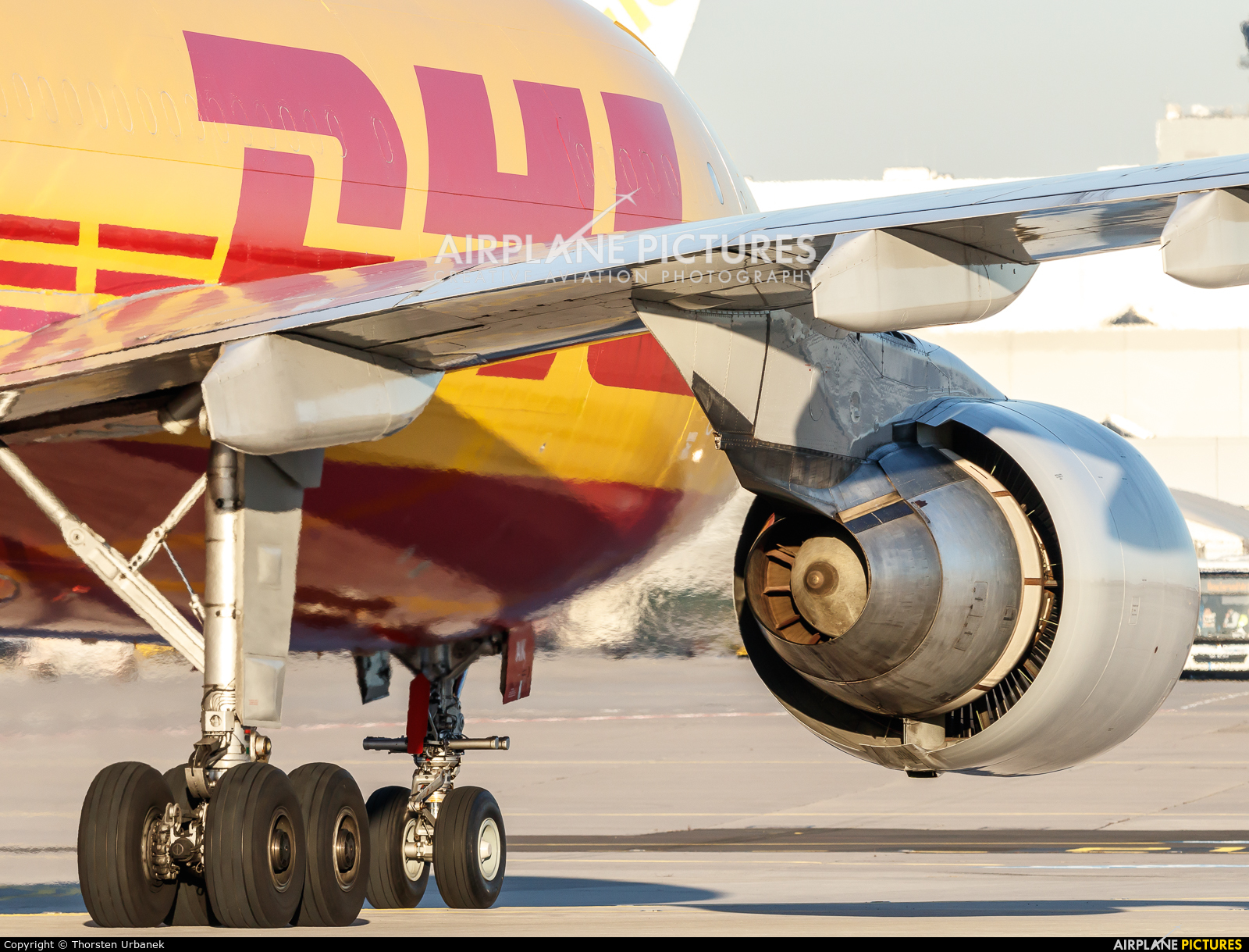 DHL Cargo D-AEAK aircraft at Frankfurt