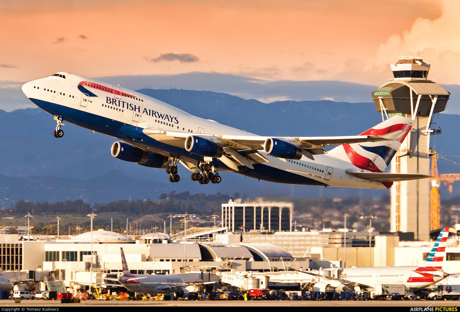 British Airways G-CIVH aircraft at Los Angeles Intl