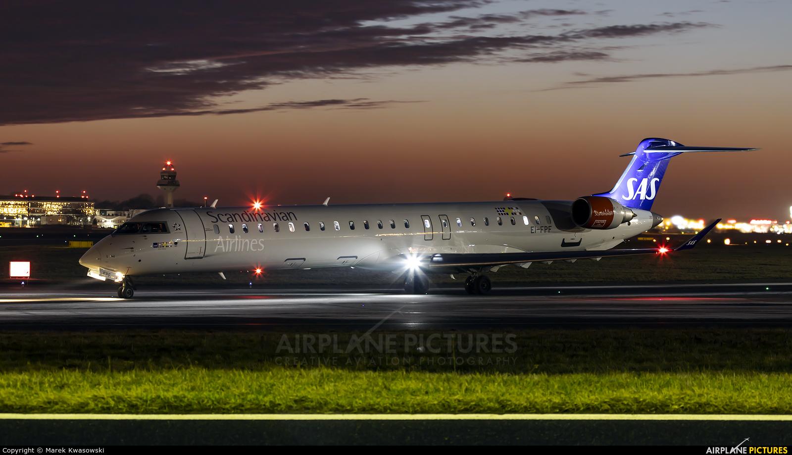 SAS - Scandinavian Airlines (CityJet) EI-FPF aircraft at Warsaw - Frederic Chopin