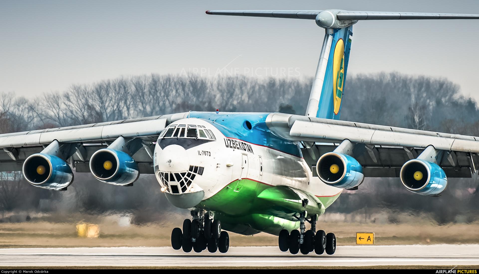 Uzbekistan Airways UK-76426 aircraft at Pardubice