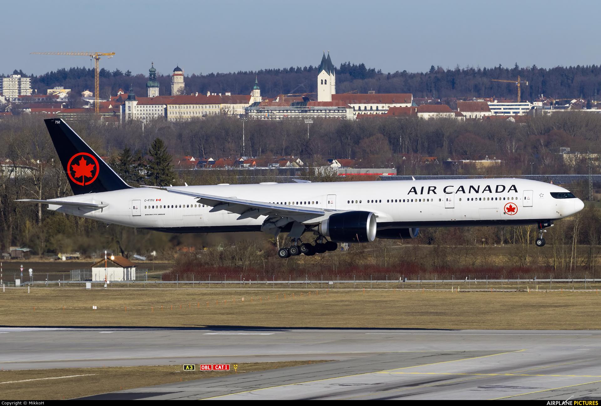 Air Canada C-FITU aircraft at Munich