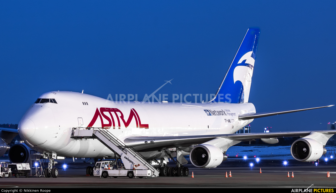 Astral Aviation TF-AMU aircraft at Helsinki - Vantaa