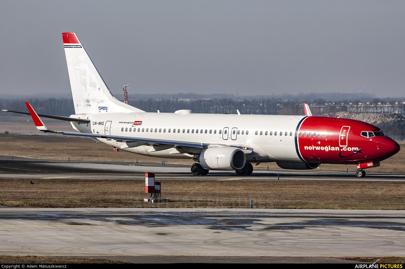 Norwegian Air Shuttle LN-NIG aircraft at Prague - Václav Havel