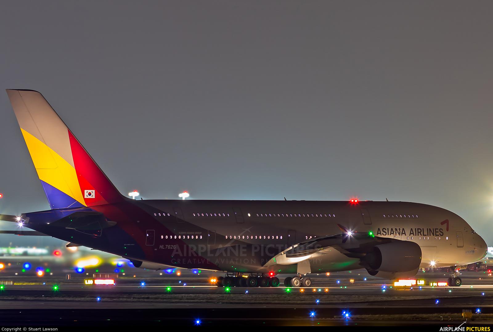 Asiana Airlines HL7626 aircraft at Frankfurt