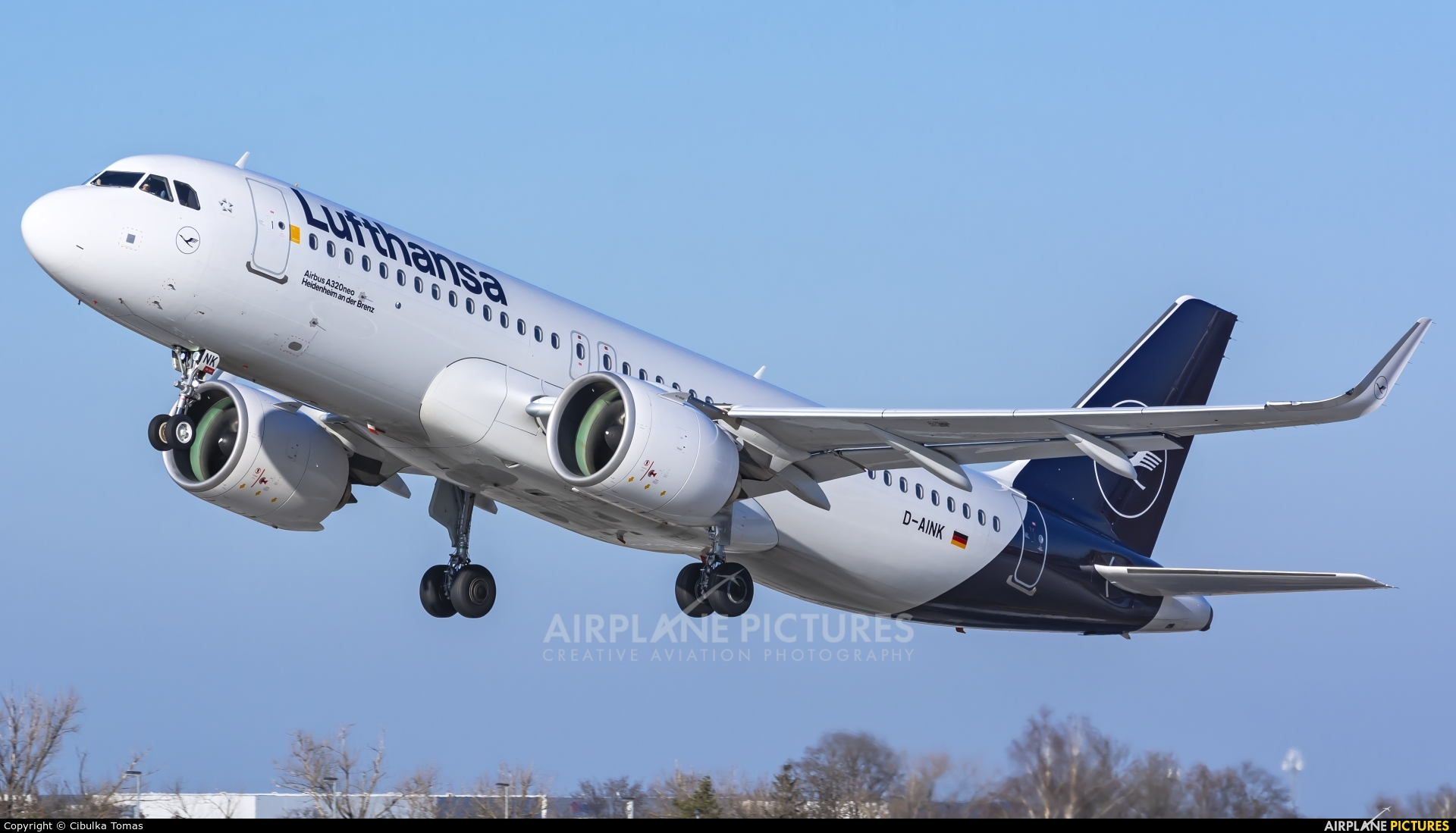 Lufthansa D-AINK aircraft at Prague - Václav Havel