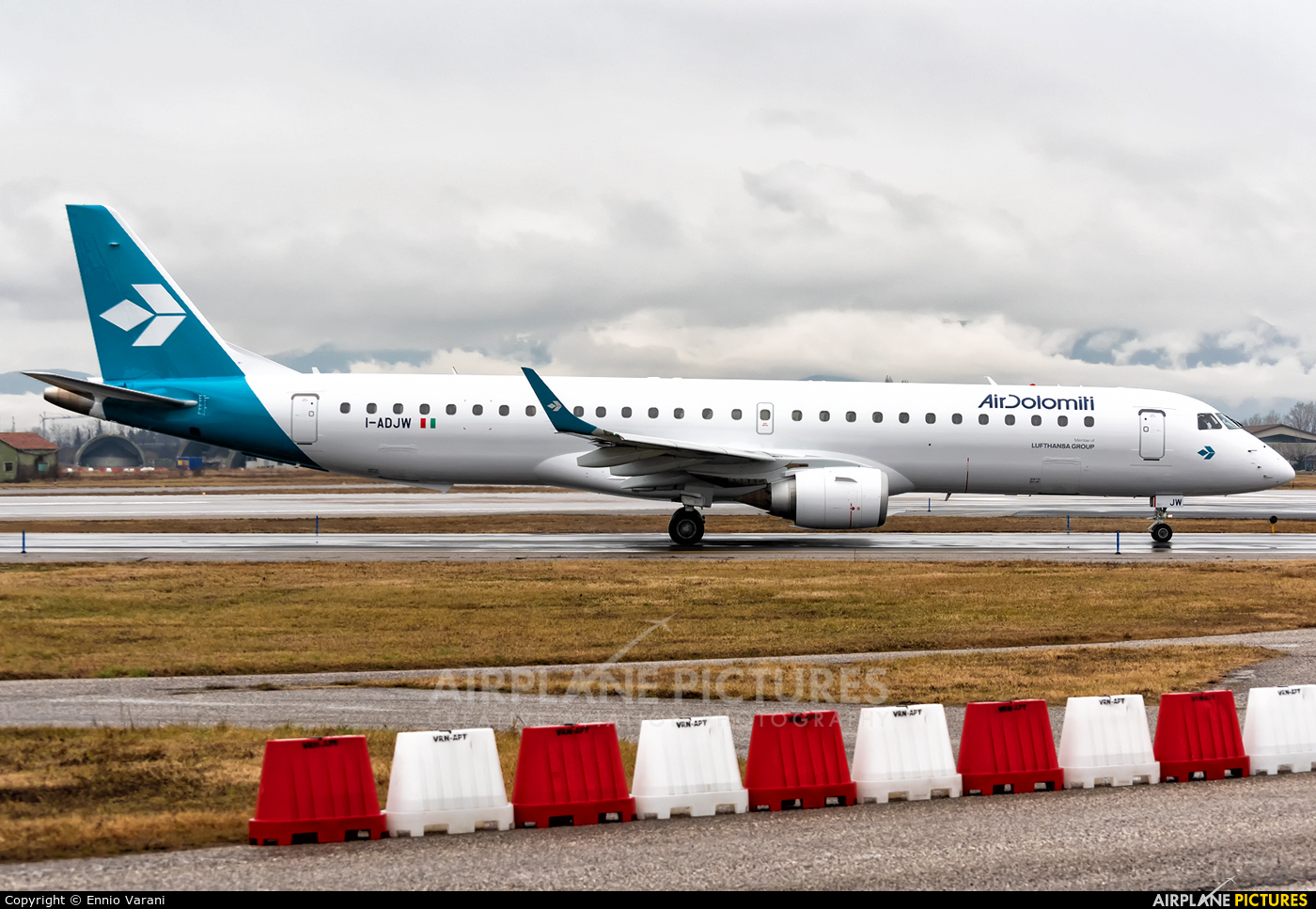 Air Dolomiti I-ADJW aircraft at Verona - Villafranca