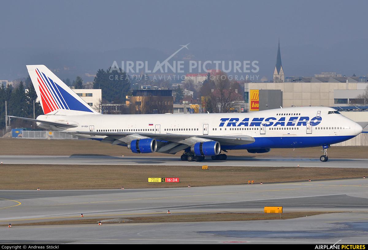 Transaero Airlines VP-BQH aircraft at Salzburg