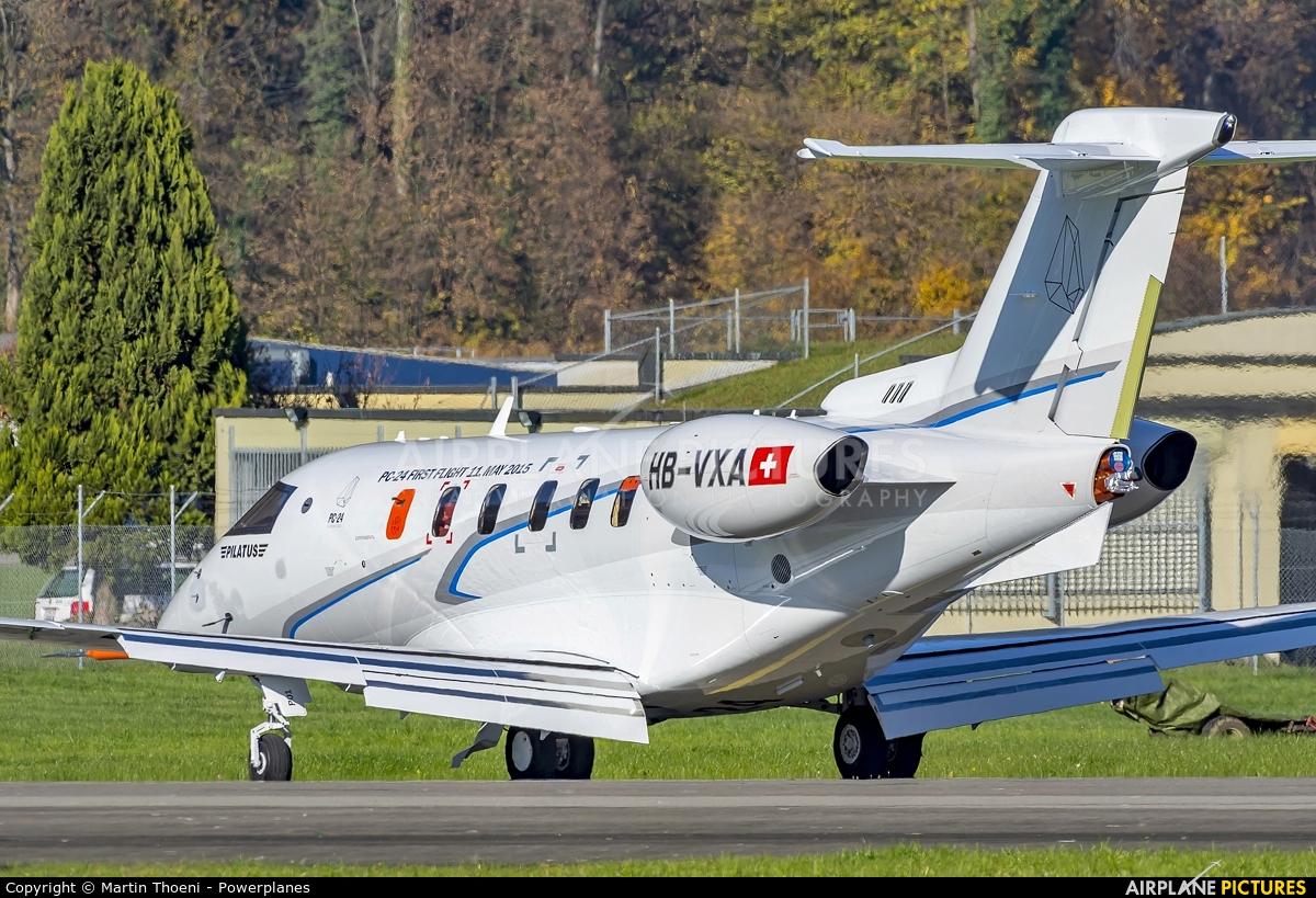 Pilatus HB-VXA aircraft at Buochs