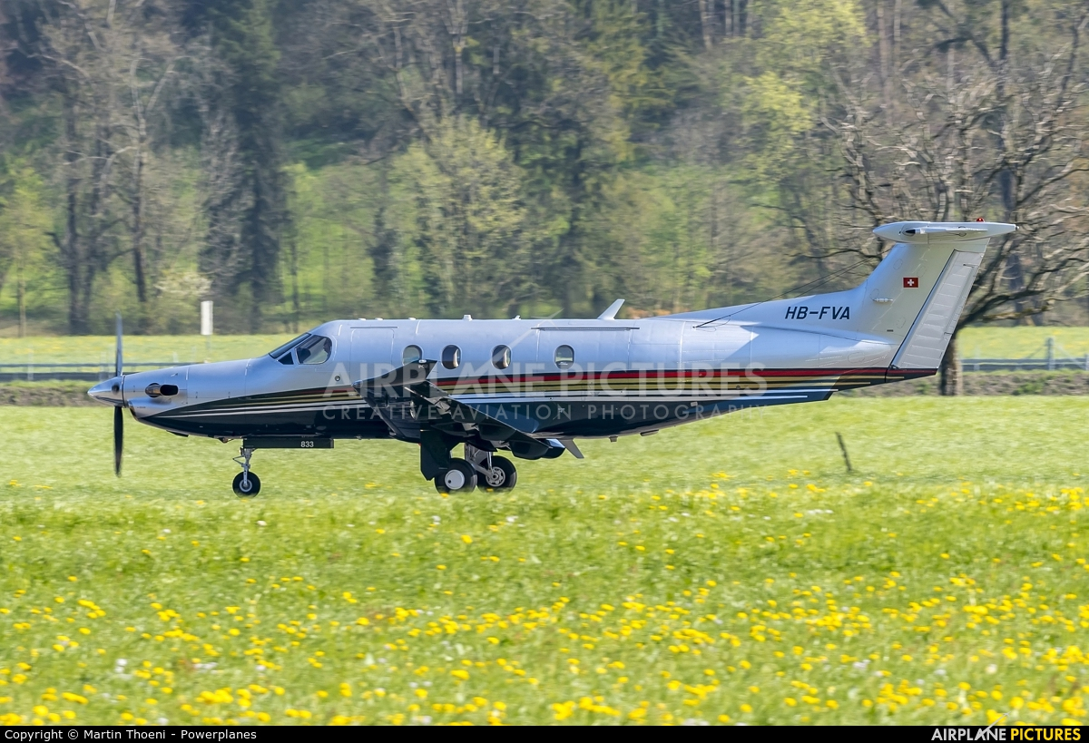 Private HB-FVA aircraft at Buochs