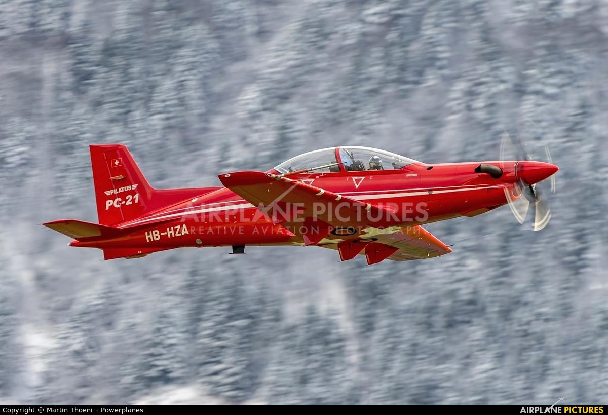 Pilatus HB-HZA aircraft at Buochs