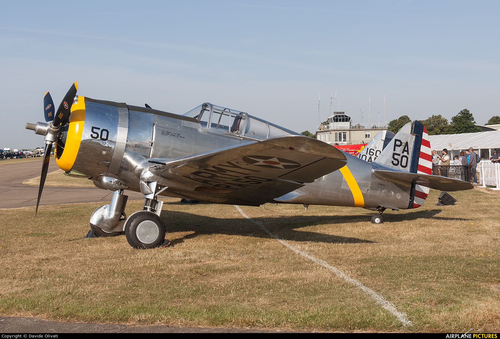 The Fighter Collection NX80FR aircraft at Duxford