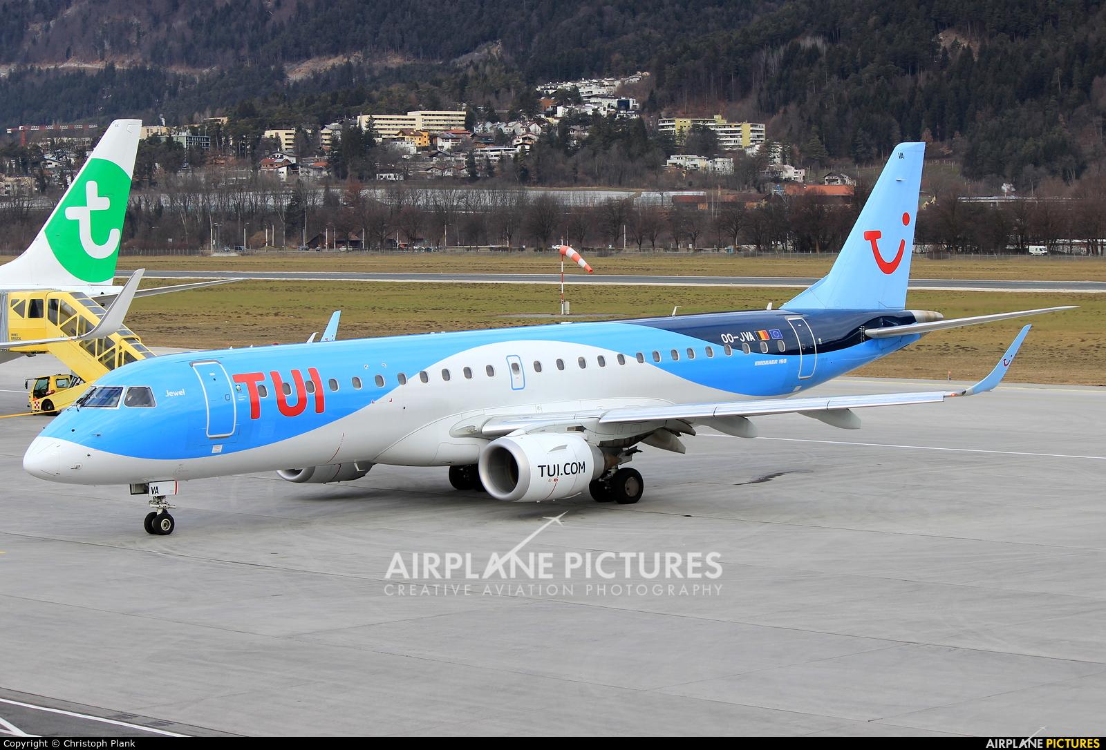 TUI Airlines Belgium OO-JVA aircraft at Innsbruck