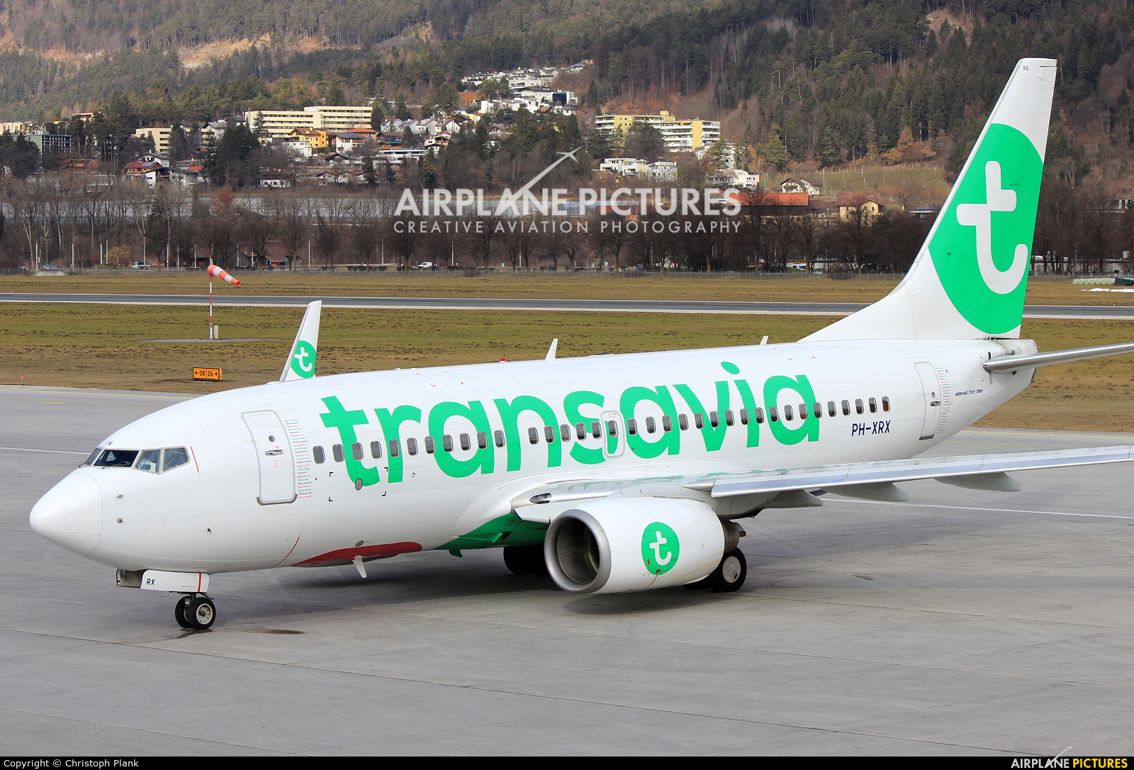 Transavia PH-XRX aircraft at Innsbruck