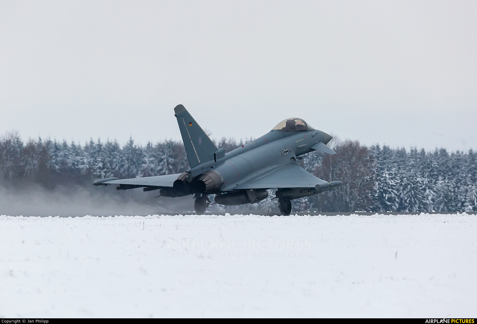 Germany - Air Force 30+47 aircraft at Rostock - Laage